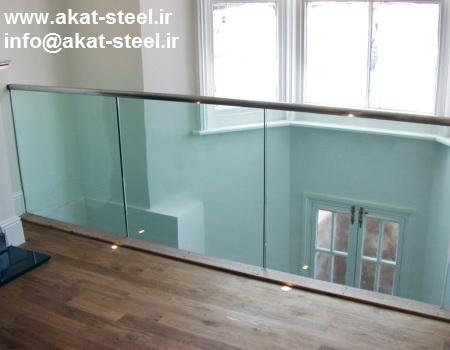 نرده شیشه ای بالکن شیشه 10 میلیمتر