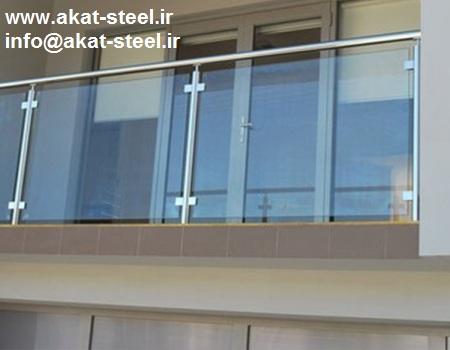 نرده شیشه ای بالکن شیشه خور