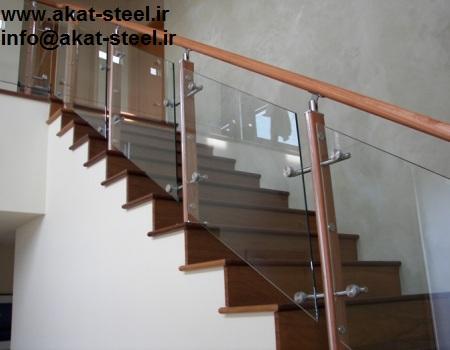نرده شیشه ای پله اسپایدری