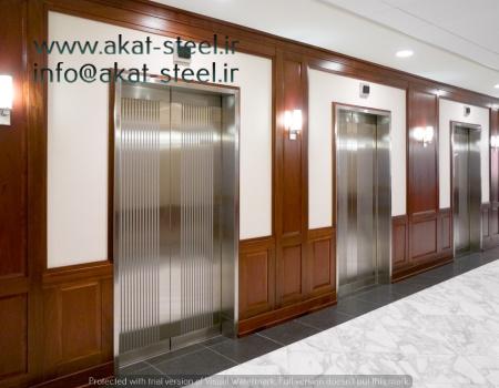 روکش استیل درب آسانسور