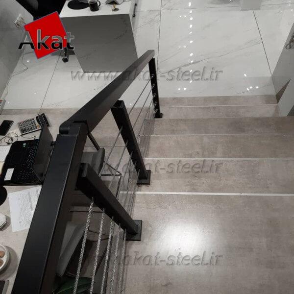نرده کابلی آکات استیل مدل آهنی1