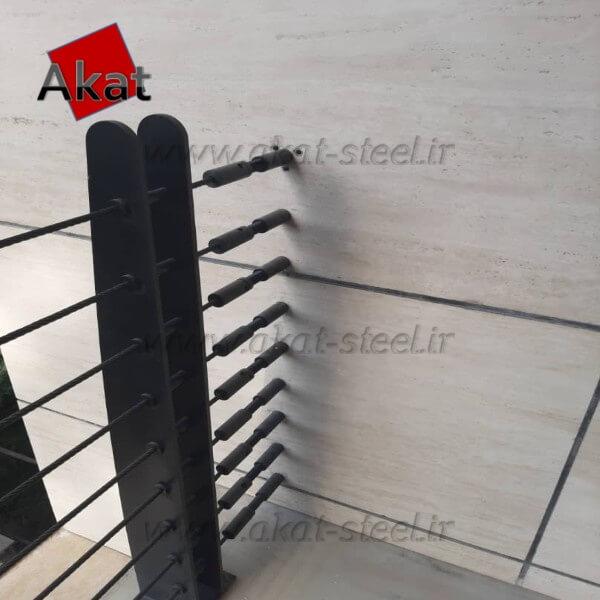 نرده کابلی آکات استیل مدل ورقی1